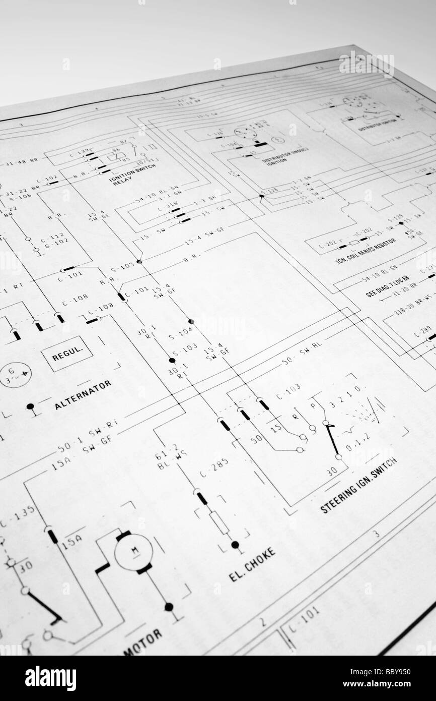 hight resolution of electrical wiring diagram stock image