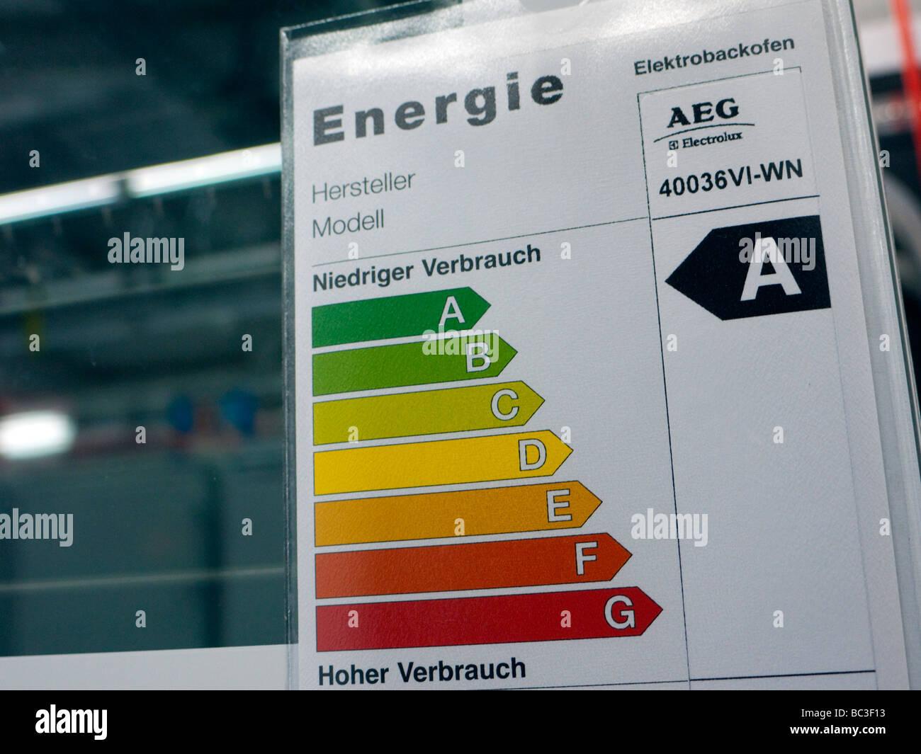 Energy Label Appliance Stock Photos & Energy Label Appliance Stock