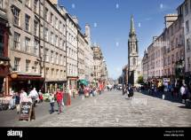 Pavement Cafes Royal Mile Edinburgh Scotland