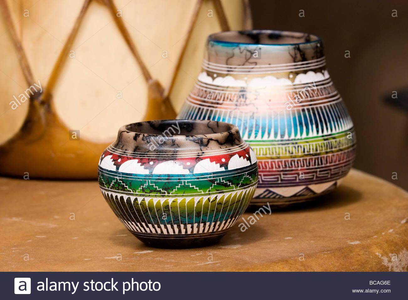 Native American Crafts Taos Pueblo New Mexico Stock Photo