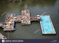 """Badeschiff"", ""bathing ship"", public swimming pool, river ..."