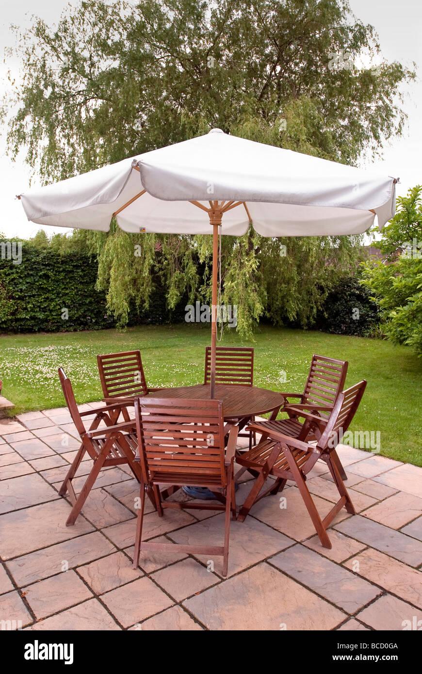 https www alamy com stock photo a set of patio furniture with sun umbrella 24872074 html