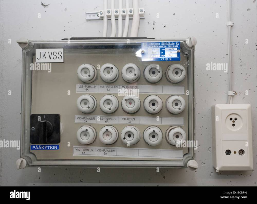 medium resolution of closeup of fuse box breaker panel stock image