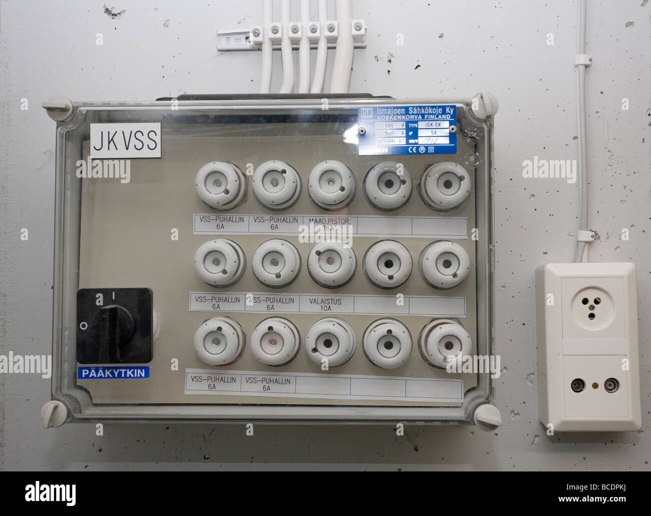 hight resolution of closeup of fuse box breaker panel stock image