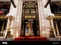 New York City Plaza Hotel Entrance with Red Carpet and ...