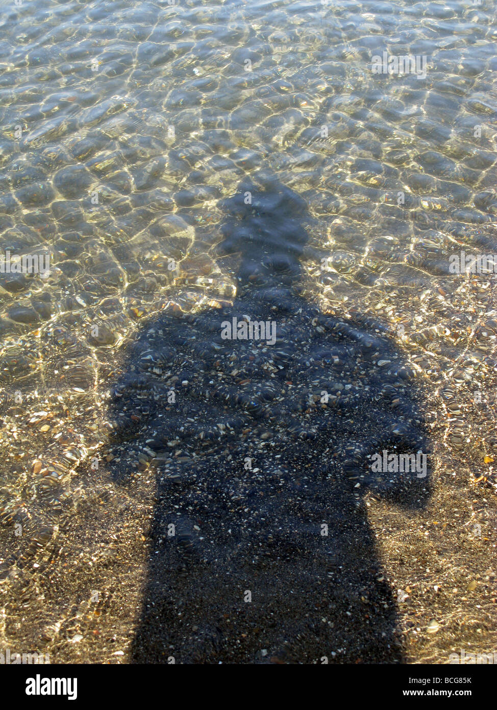 Shadow In Water : shadow, water, Person's, Shadow, Water, Surface, Stock, Photo, Alamy