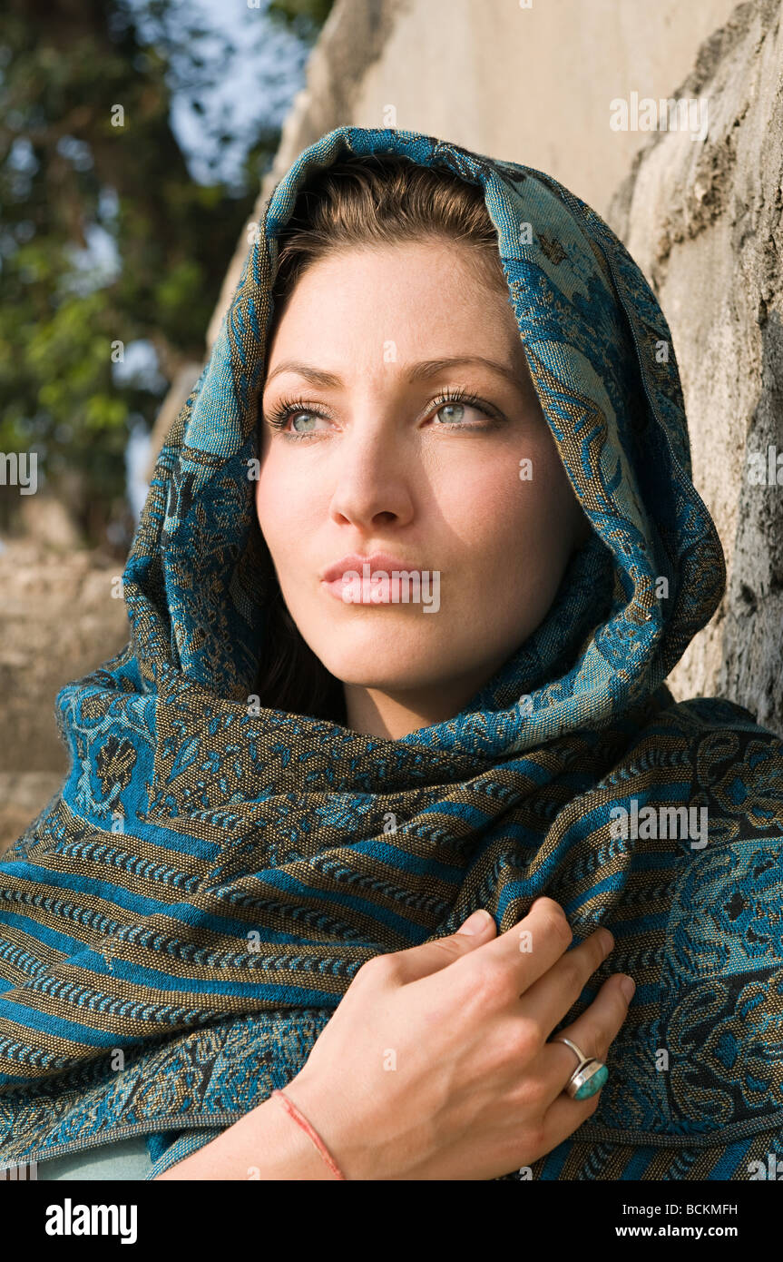 young woman wearing headscarf