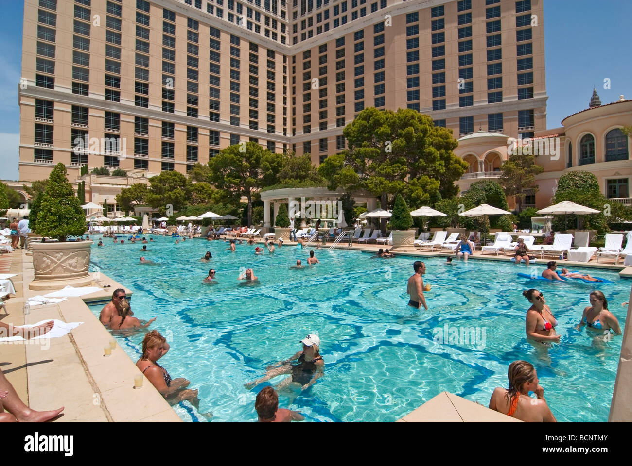 Luxurious swimming pool of the Bellagio Resort and Casino in Las Stock Photo 25066635  Alamy