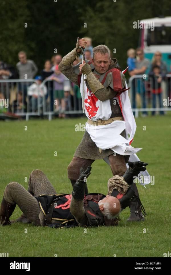 Medieval Joust Stock & - Alamy