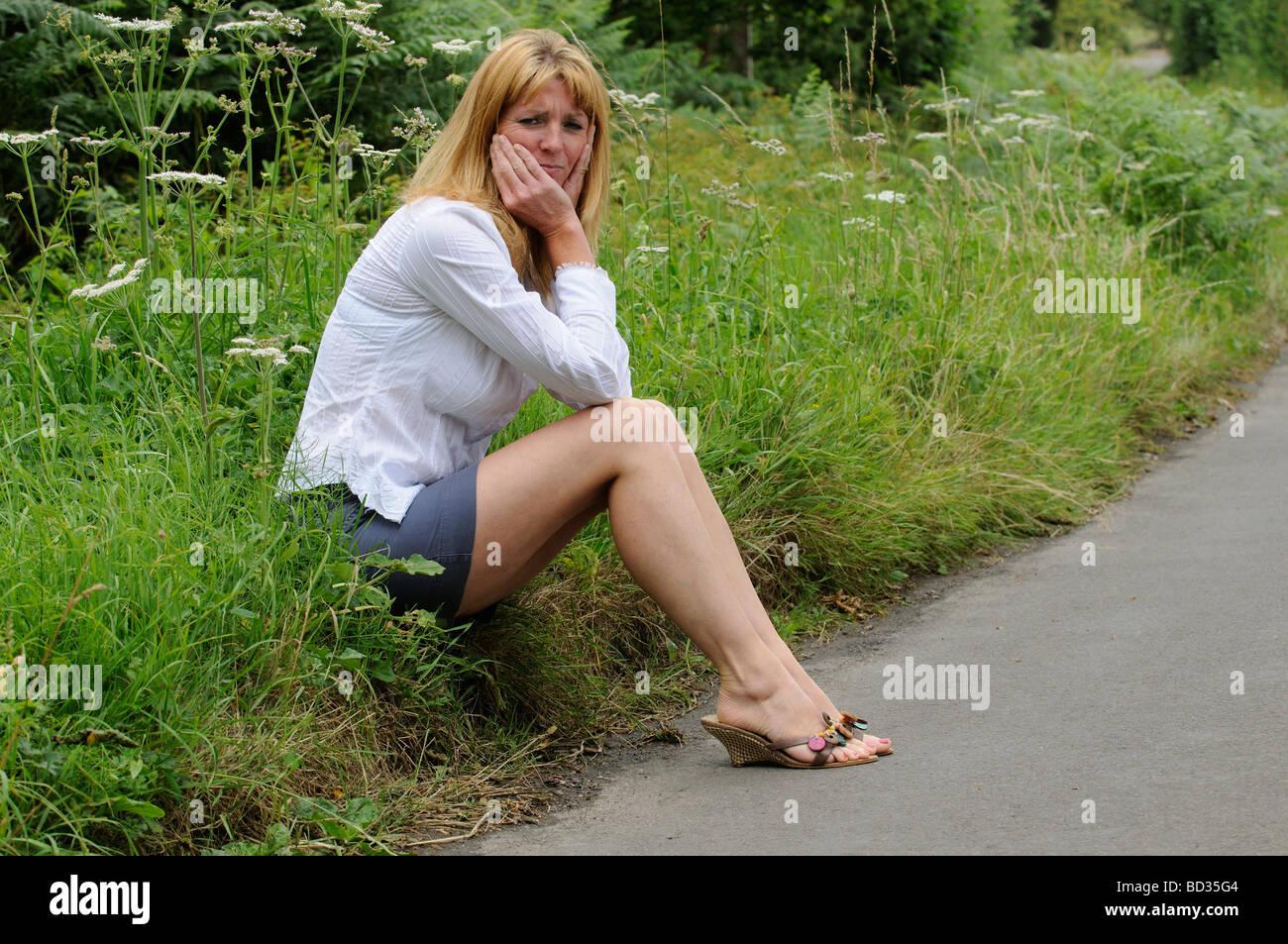 Mature Women In Skirts Sitting