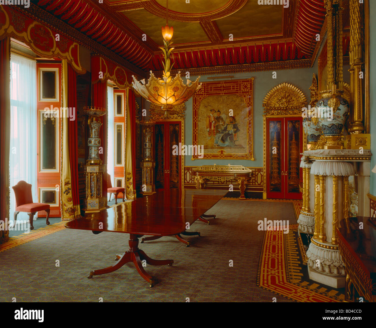 The Chinese Dining Room In Buckingham Palace Stock Photo 25298461 Alamy