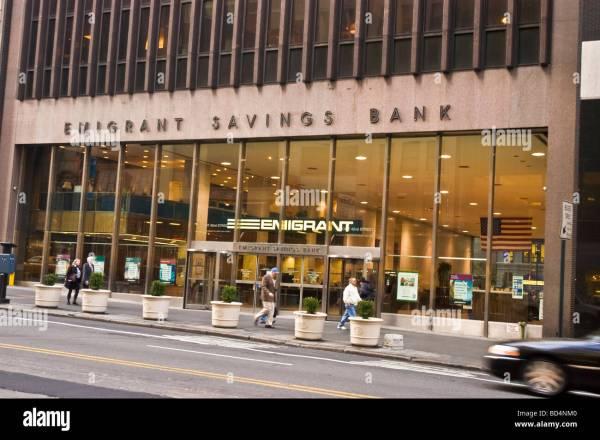 Emigrant Savings Bank Facade Manhattan York City