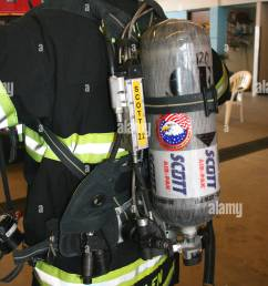 self contained breathing apparatus scba scott airpack lightweight version stock image [ 866 x 1390 Pixel ]