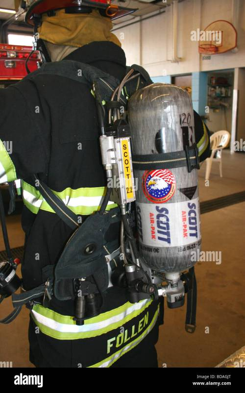 small resolution of self contained breathing apparatus scba scott airpack lightweight version stock image