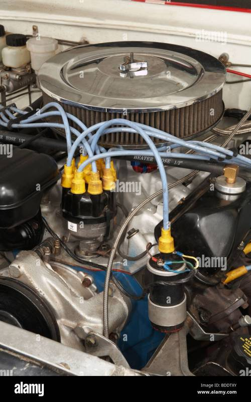 small resolution of ignition coil distributor on a classic race specification ford v8 engine