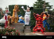 Disney Characters Disneyland Paris France Stock