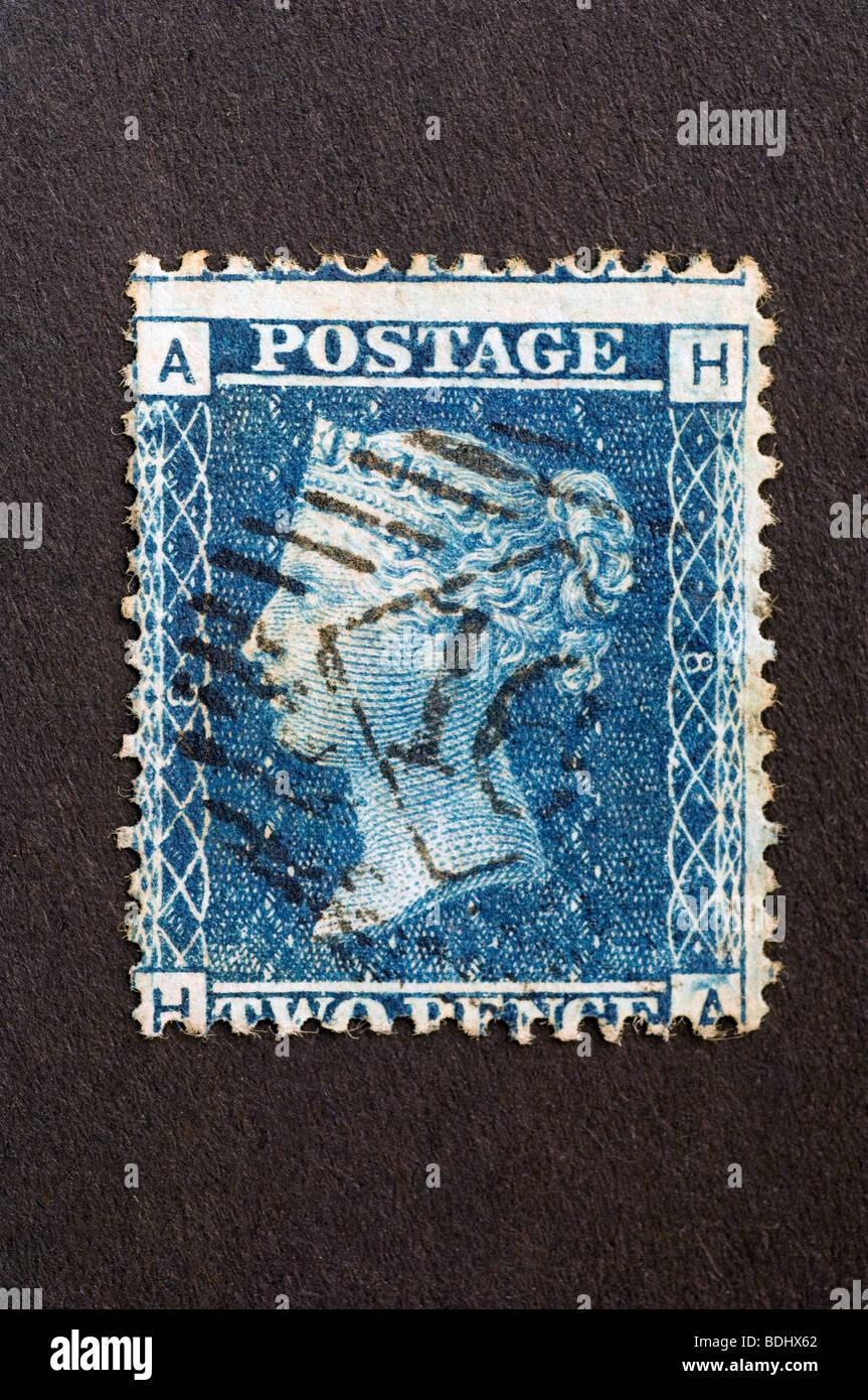 Queen Victoria Blue Stamp Stock Photos  Queen Victoria