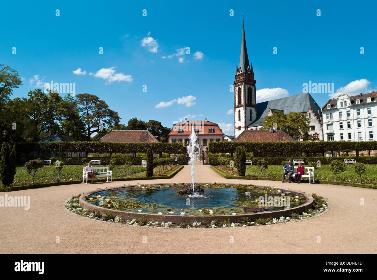 Prinz Georg Garten Garden In The Back The St Elizabeth Church