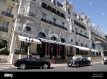 Entrance Famous Hotel De Paris Monte Carlo Monaco