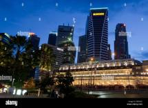 View Of Singapore Hotels Stock &