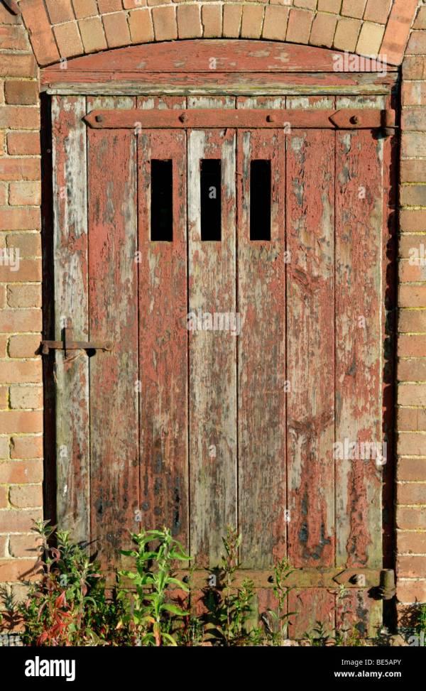 Farm Door Door Of Red Barn At Kansas Farm u0026 Ranch