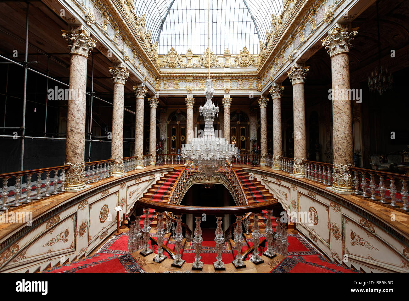 Staircase with dome, crystal staircase, glass staircase