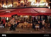 Cafe Paris Champs Elysee Stock &