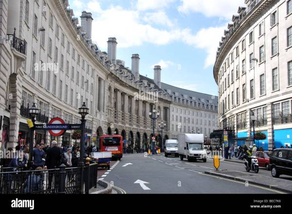 Regent Street Piccadilly Circus City Of Westminster London Stock 26085002 - Alamy