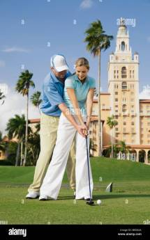 Couple Playing Golf Biltmore Hotel