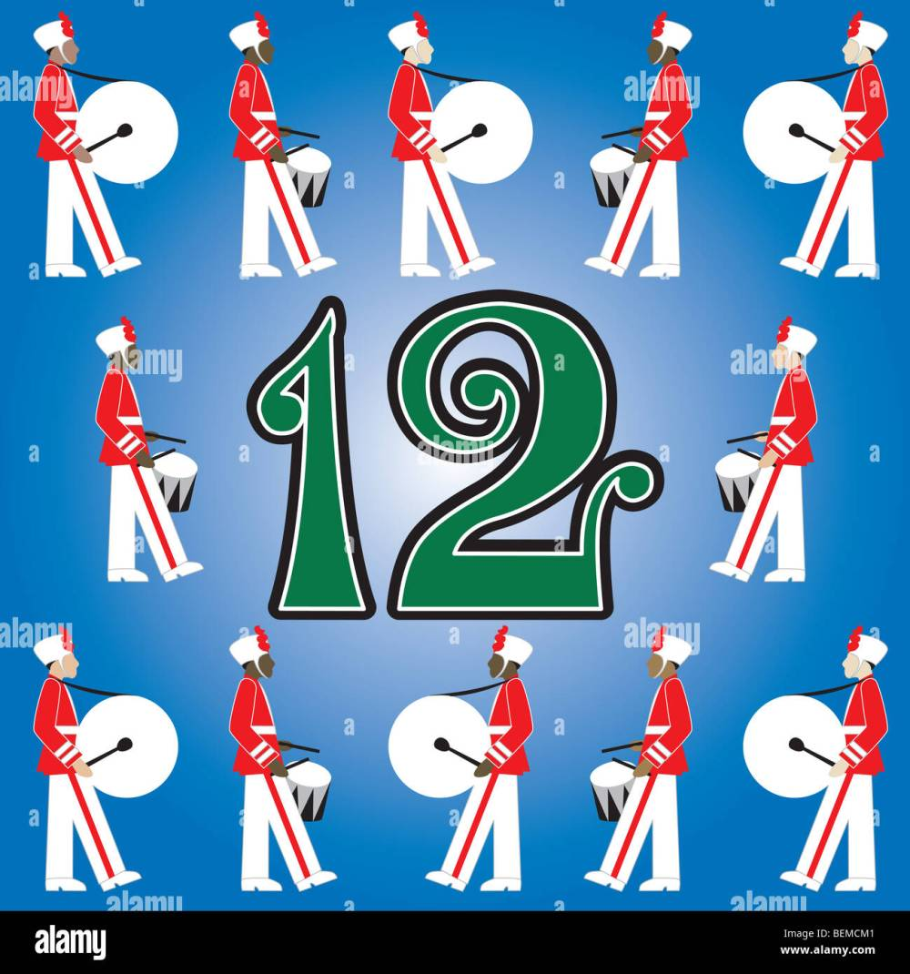 medium resolution of the 12 days of christmas vector illustration there is one for each day can be used as an educational flash card for counting