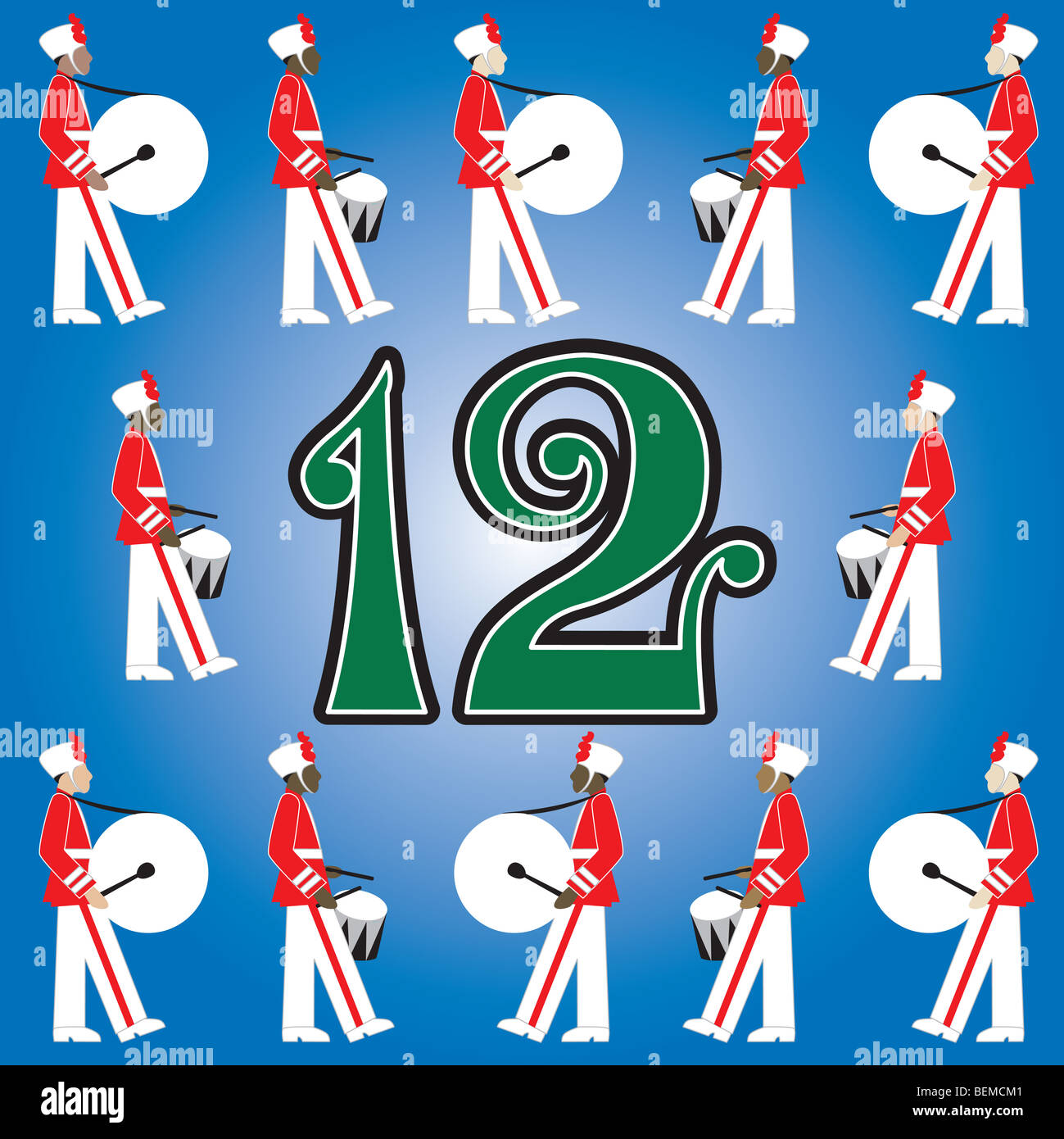 hight resolution of the 12 days of christmas vector illustration there is one for each day can be used as an educational flash card for counting