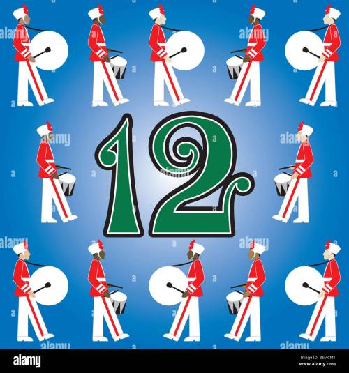 small resolution of the 12 days of christmas vector illustration there is one for each day can be used as an educational flash card for counting