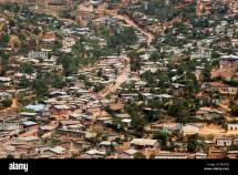 Aerial View Over Houses Of Suburb Kigali Capital City