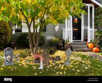 Front Yard Decoration For Halloween Stock Photos & Front ...