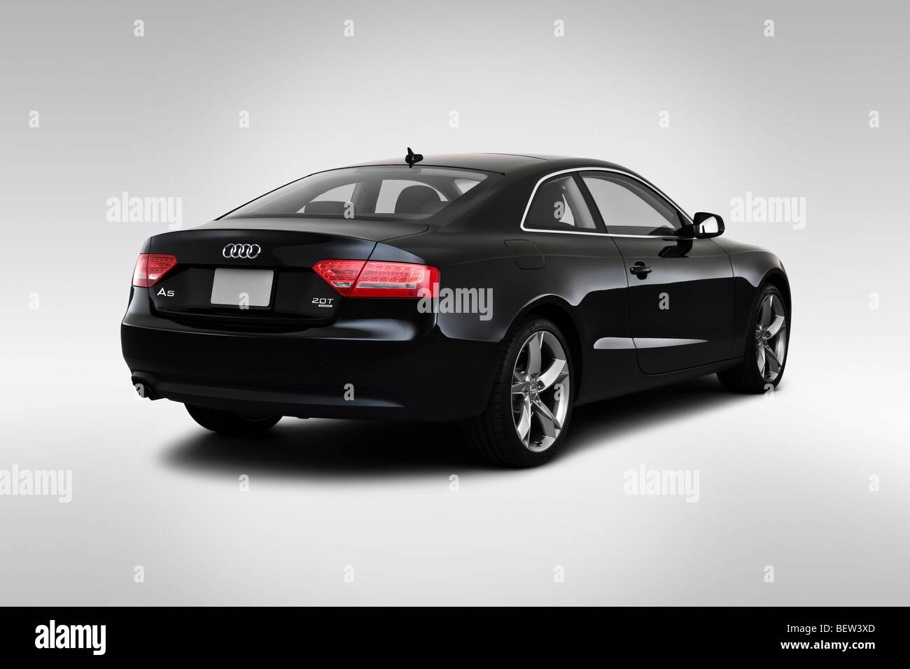 hight resolution of 2010 audi a5 2 0t in black rear angle view