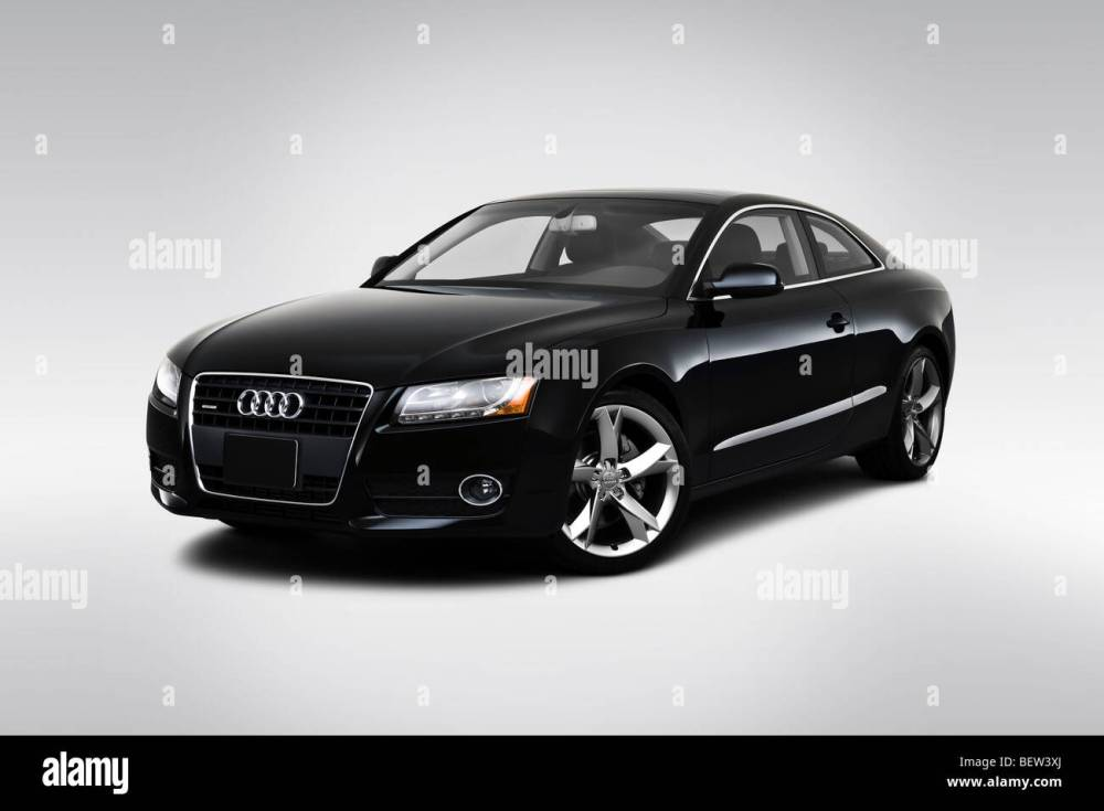 medium resolution of 2010 audi a5 2 0t in black front angle view