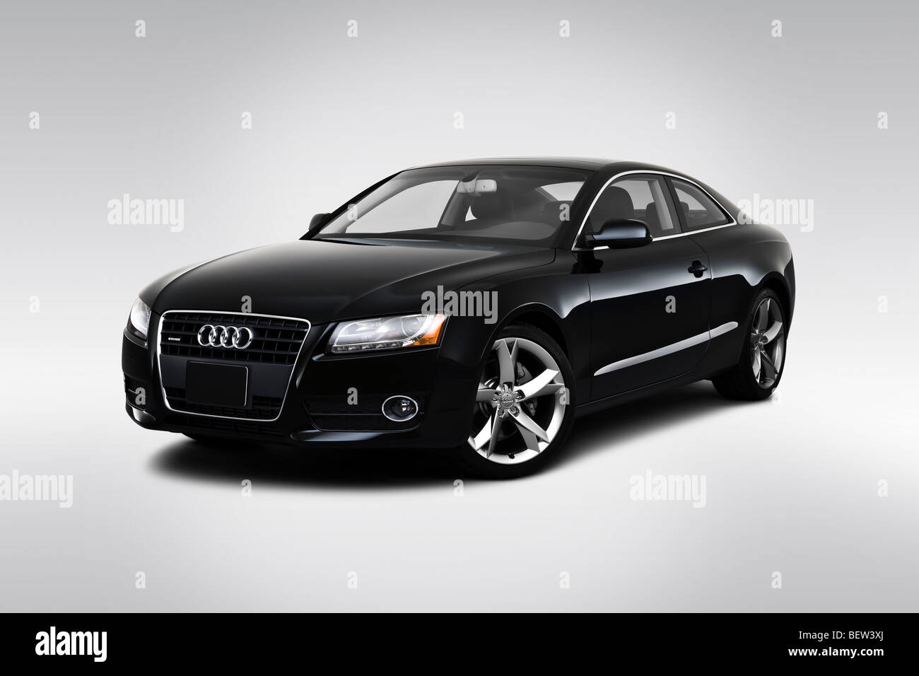 hight resolution of 2010 audi a5 2 0t in black front angle view