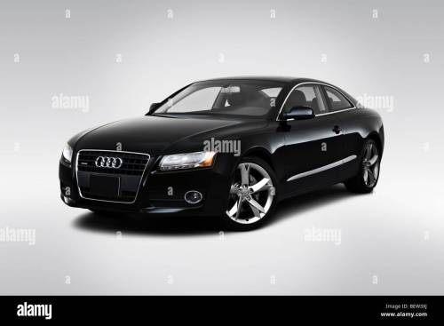 small resolution of 2010 audi a5 2 0t in black front angle view
