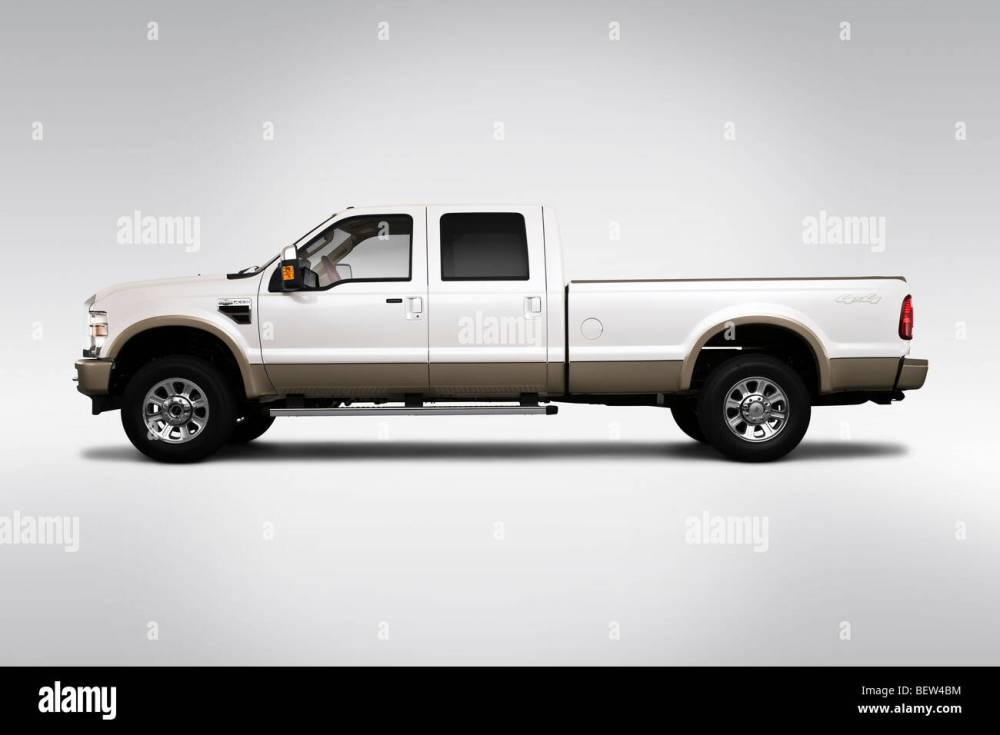 medium resolution of 2010 ford f 250 sd lariat in drivers side profile stock image