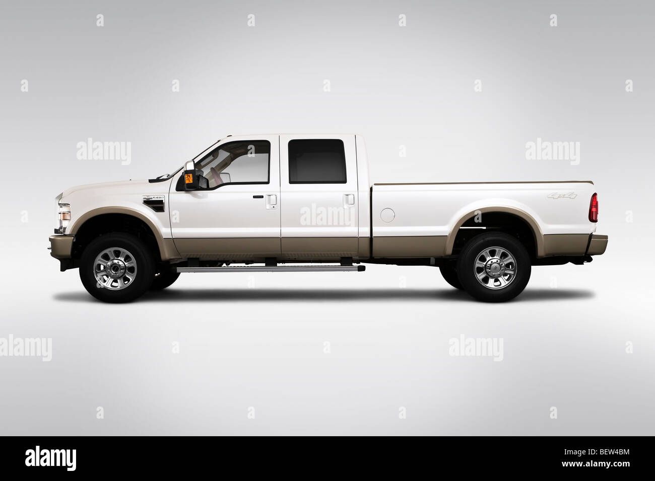 hight resolution of 2010 ford f 250 sd lariat in drivers side profile stock image