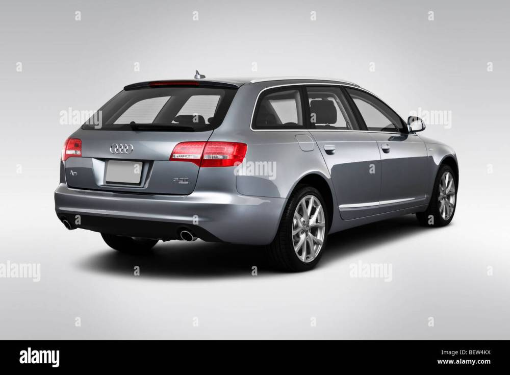 medium resolution of 2010 audi a6 avant 3 0 quattro in gray rear angle view