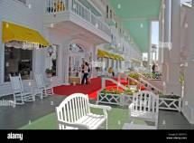 Front Porch Of Grand Hotel Mackinac Island Michigan