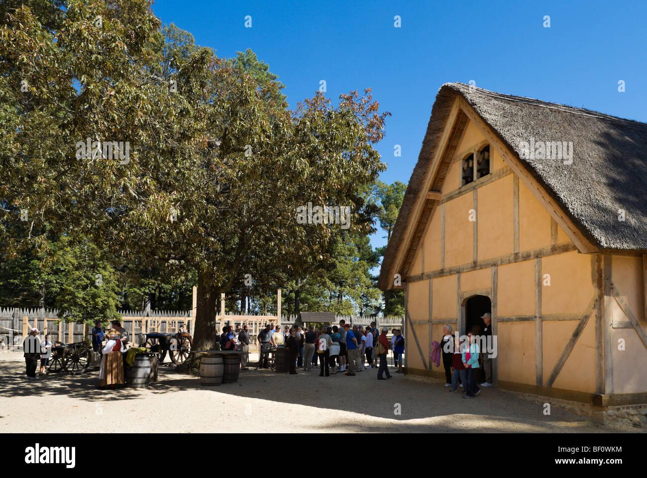 James Fort Jamestown Settlement Jamestown Virginia Usa