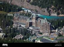 High Angle View Of Fairmont Banff Springs Hotel With