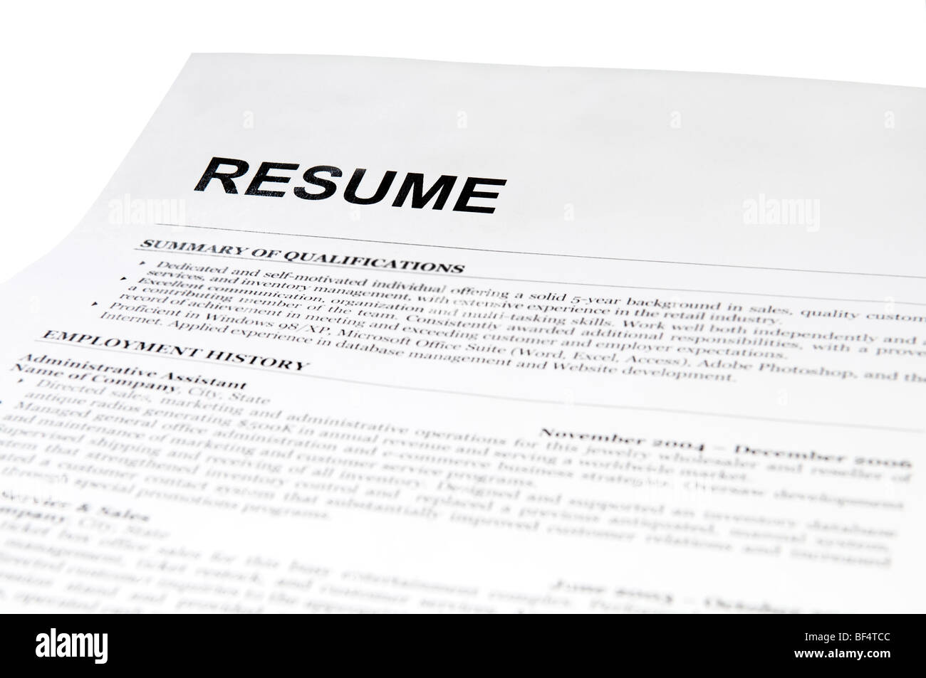 Resume And Cover Letter Stock Photos  Resume And Cover