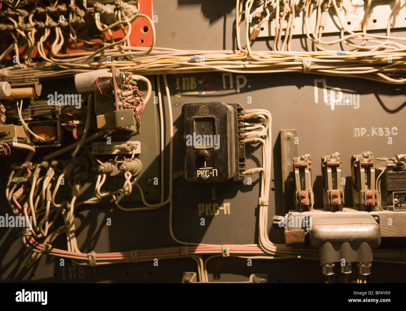 hight resolution of complex old industrial electrical fuse box russia stock image