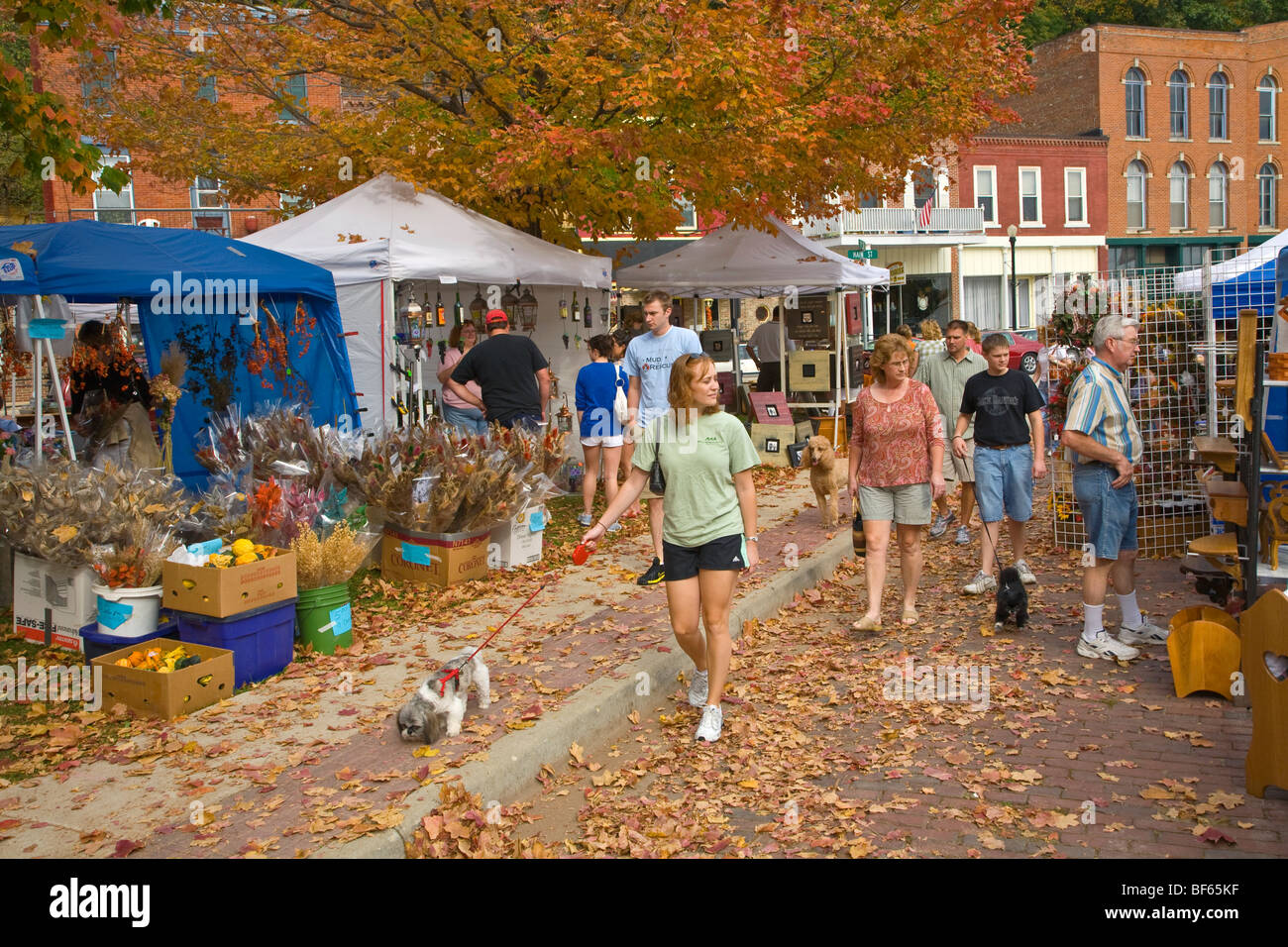 Vendors And Shoppers At The Annual Fall Arts Craft Festival In The Stock Photo Alamy