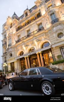 Rolls Royce Limousine Hotel De Paris Luxury Monte