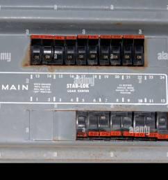 main circuit panel using stab lock breakers in a residential circuit breaker panel  [ 1300 x 953 Pixel ]