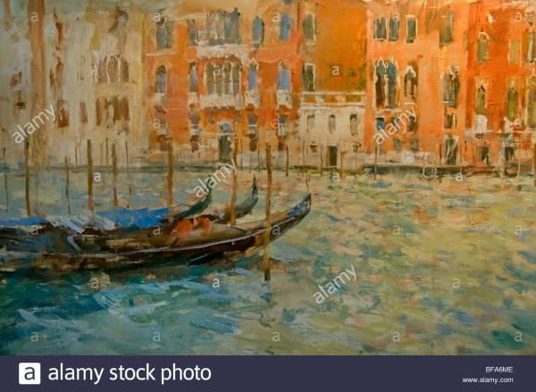 Canal Grande Venice Italy Art Italian Stock Royalty Free 26655006 - Alamy